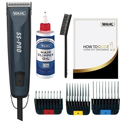 WAHL Dog Clippers, SS Pro Premium Dog Grooming Kit, Full Coat Dog Grooming Clippers for All Coat Types, Low Noise Corded Pet Clippers, Powerful and Quiet
