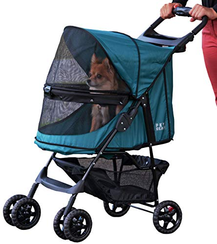 Pet Gear Happy Trails No-Zip Stroller, Emerald Green
